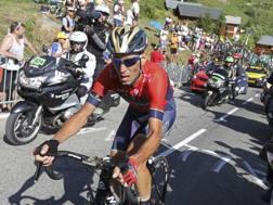Vincenzo Nibali, 34 anni, nella tappa del 19 luglio, quella della caduta AFP