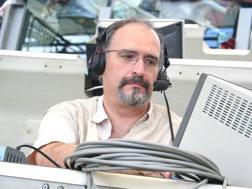 Carlo Zampa, in cabina di commento.