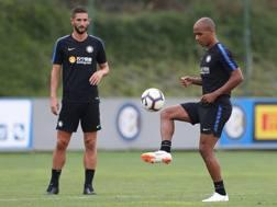 Joao Mario in allenamento con Gagliardini. Getty
