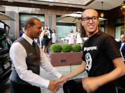 Diego Laxalt al suo arrivo a Milano