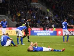 L'Italia dopo l'eliminazione nei play-off mondiali. LaPresse