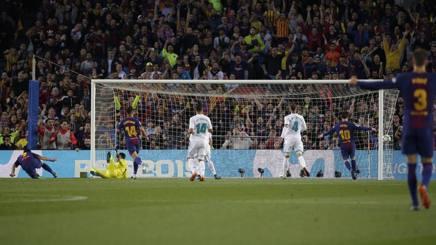 Un momento dell'ultimo clasico Real Madrid vs Barcellona, il 6 maggio 2018