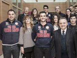 La presidente Donatella Formisano, e il marito, Leonardo Manzari, direttore sportivo della Virtus Cassino