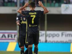 Ronaldo esulta con Bernardeschi. ANSA