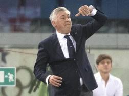 Carlo Ancelotti, tecnico del Napoli. Ansa