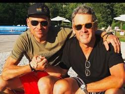 La foto postata da Lance Armstrong con jan Ullrich