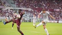 Il gol di Dzeko contro il Torino. LAPRESSE