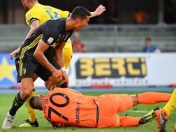 Cristiano Ronaldo e Stefano Sorrentino. Afp