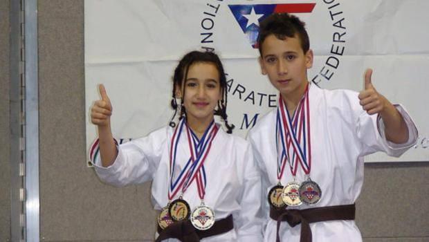 Francesco e Terryana hanno iniziato karate da bambini nella palestra del padre Vincenzo a Sant'Arcangelo di Potenza