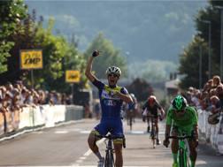 L'arrivo di Michele Corradini nel Giro del Casentino. Silvia Previtera