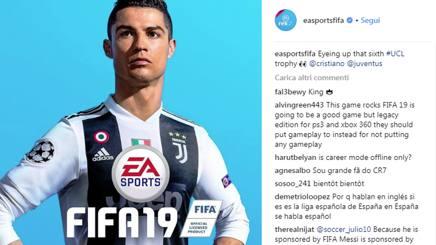Cristiano Ronaldo, uomo copertina della Serie A e di FIFA 19