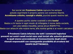 Il tweet del Frosinone. Twitter