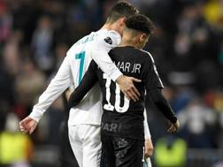 Cristiano Ronaldo e Neymar Jr. AFP