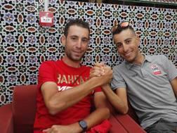 Vincenzo Nibali e Fabio Aru (destra)