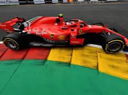Kimi Raikkonen in azione a Spa. Getty