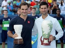 In Ohio: federer (sx) e Djokovic