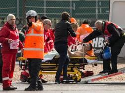 Tito Rabat soccorso e trasportato in ospedale. Afp
