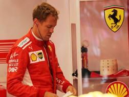 Sebastian Vettel parte in prima fila a Spa. Lapresse