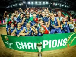 Le azzurre dell'Under 16 campionesse d'Europa FIBA
