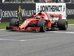 Sebastian Vettel, quinta vittoria nel 2018. Getty