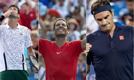 Djokovic, Nadal e Federer. AP