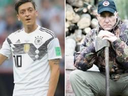 Mesut Ozil e Vinnie Jones. GETTY