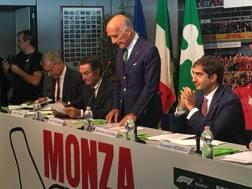 Il presidente dell'Aci, Angelo Sticchi Damiani, alla presentazione del GP di monza