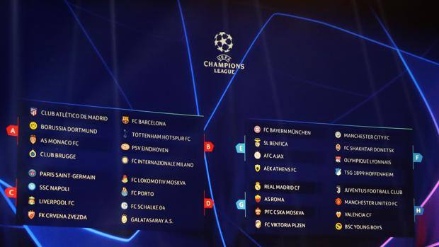 Calendario Della Champions League.Champions Gironi E Calendario Oggi Poster In