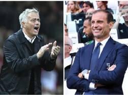 José Mourinho, 55 anni, e Massimiliano Allegri, 51