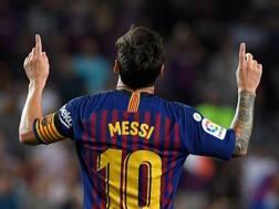 Leo Messi, stella del Barça. Afp