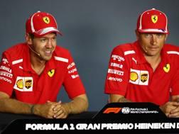 Sebastian Vettel e Kimi Raikkonen. Getty