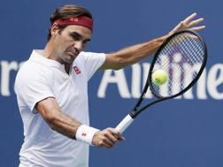 Roger Federer, 37 anni, numero 2 del mondo. Epa