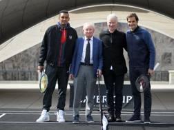 Kyrgios, Laver, McEnroe e Federer al lancio della Laver Cup
