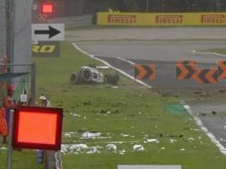 La Sauber di Ericsson dopo il botto a Monza