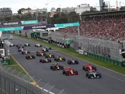 Il via del GP di Australia 2018. LaPresse