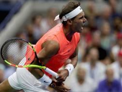 Rafael Nadal, 32 anni, numero 1 del mondo. Afp