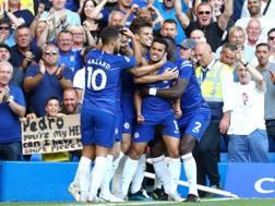 L'esultanza per il gol di Pedro. Getty Images