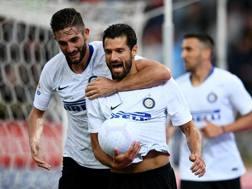 L'esultanza di Antonio Candreva dopo il gol. Getty Images
