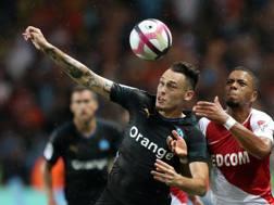Una fase del match tra Monaco e Olympique Marsiglia AFP