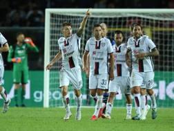 Barella festeggia il gol. ANSA