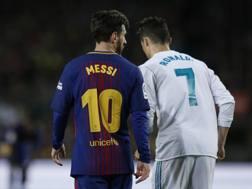 Crisitano Ronaldo e Leo Messi. Ap