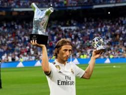 Luka Modric, miglior giocatore dell'ultima Champions League. Epa