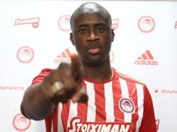Yaya Touré, nuovo giocatore dell'Olympiacos.