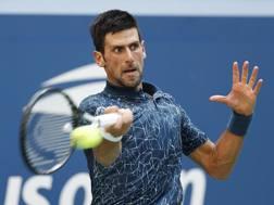 Novak Djokovic, 31 anni, ai quarti degli Us Open per l'11ª volta in carriera. Epa