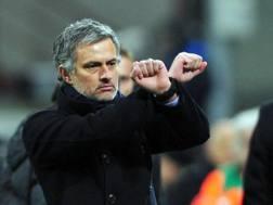 Josè Mourinho, allenatore del Manchester United. Ap