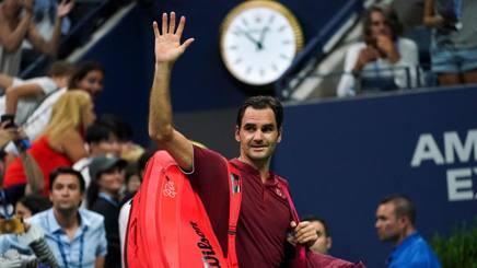 Federer saluta gli Us Open. Afp