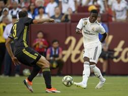 Vinicius, 18 anni, durante la tournée estiva con il Real Madrid. Ap