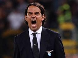 Simone Inzaghi, 42 anni, allenatore della Lazio. Lapresse