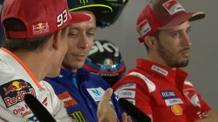 Valentino Rossi e Marc Marquez a Misano