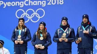 Vittozzi, Wierer, Hofer e Windisch, azzurri sul podio olimpico 2018. Lapresse